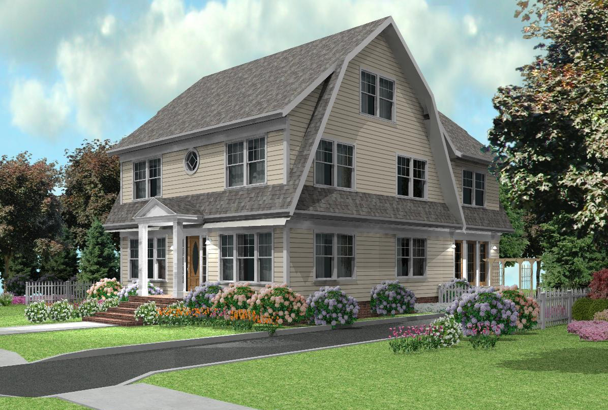 Dutch colonial home designs over 5000 house plans for Dutch colonial house plans with photos